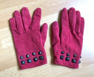 Rote Mango Handschuhe mit Nieten
