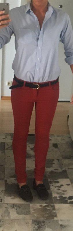 Rote Massimo Dutti Stretch-Jeans