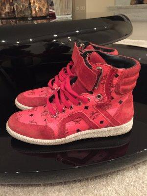 Rote MCM sneakers selten getragen