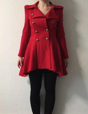Rote Military-Jacke mit Knöpfen S