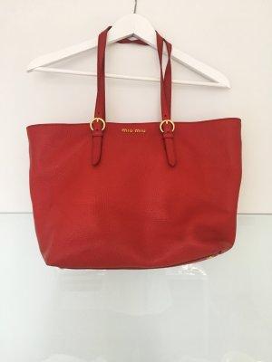 Rote Miu Miu Shopper Bag