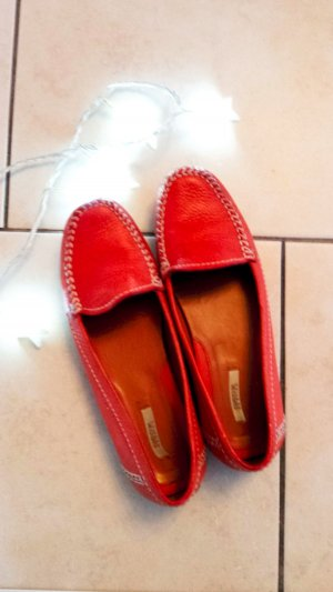 Geox Moccasins bright red leather