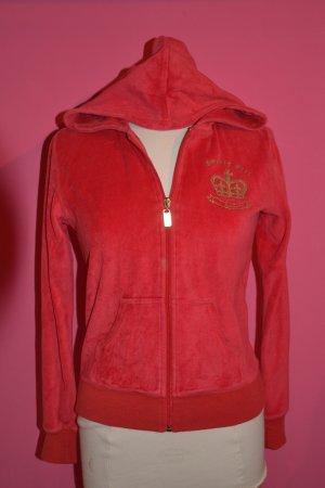 Rote Nicki-Jacke mit goldenem Aufdruck Gr. M