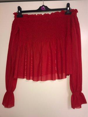 Rote Offshoulder Bluse