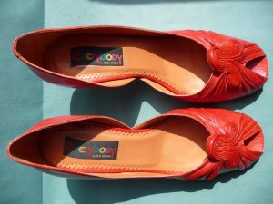 Rote Peeptoe Pumps von Everybody