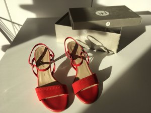 Peter Kaiser Strapped Sandals dark red-red