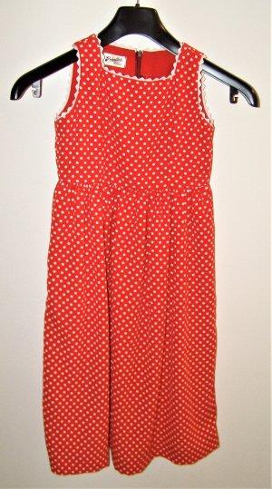 Rote Polka Dot Mädchen Kleid