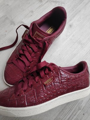 Rote Pume Basket Schuhe