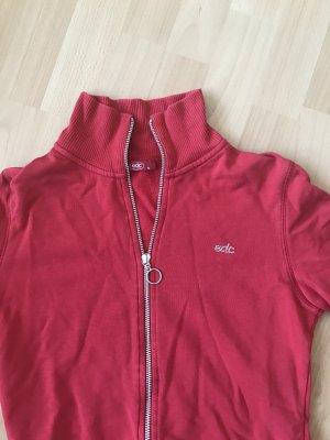 Rote Reißverschluss- Jacke