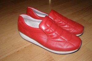 Rote Retro Lederschuhe