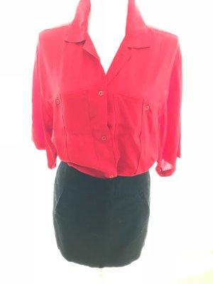 Rote Riani Bluse Blusenhemd Longbluse rot