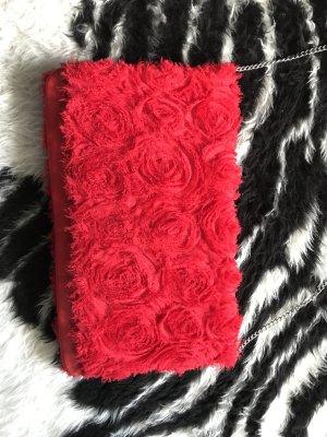 Rote romantische clutch