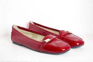 Samsonite Mocassino rosso mattone-rosso neon Pelle