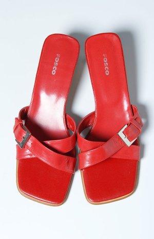 rote Sandale Fosco Größe 39