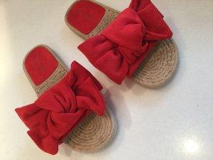 Sandalias de playa rojo oscuro-camel