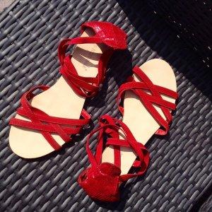 Sandalo magenta-rosso Sintetico