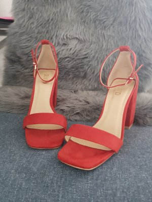 Strapped Sandals red