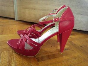 Rote Sandaletten Sandalen High Heels Gr. 40 Laura Scott