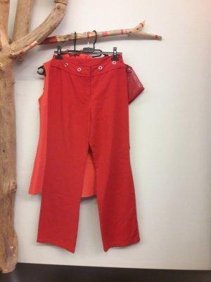 Pantalón de campana rojo-rojo claro