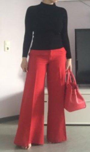 Pantalón palazzo rojo ladrillo