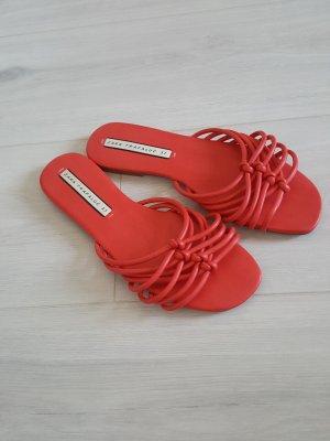 Zara Ciabatta aperta rosso chiaro