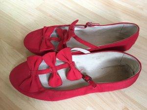 Topshop Ballerina con cinturino rosso