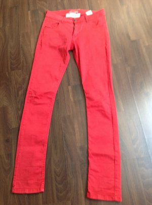 Rote schmale Hose von Twin -Set / Gr.27