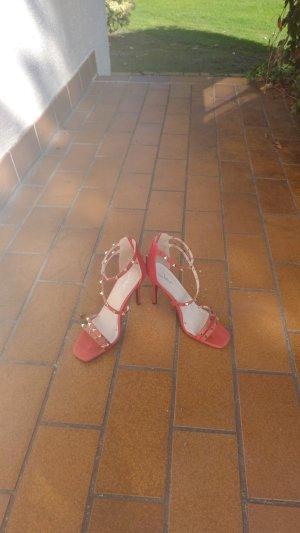 Rote Schnuerchensandaletten Art Valentino Gr.39
