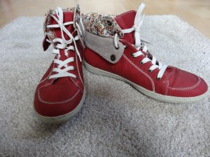 Rieker Zapatos brogue rojo ladrillo-blanco