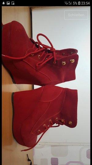 Super Mode Décolleté accollato rosso-rosso scuro