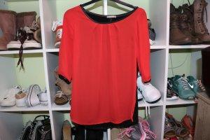 Rote/Schwarze super schöne Bluse