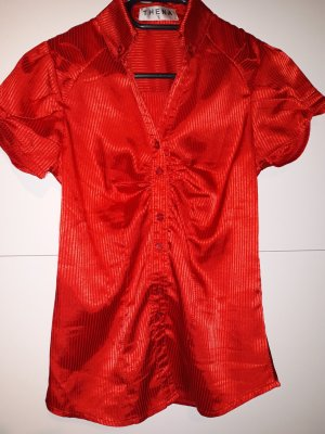 Blouse brillante rouge polyester
