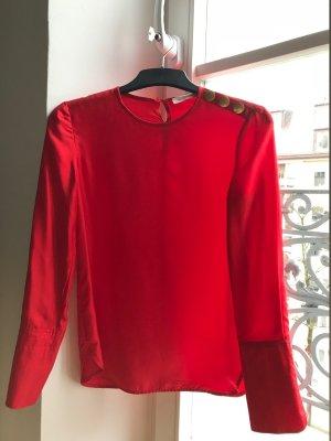 Tory Burch Blouse brillante rouge clair-rouge soie