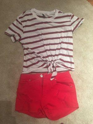 Rote Short mit passenden T-Shirt / jeweils H&M