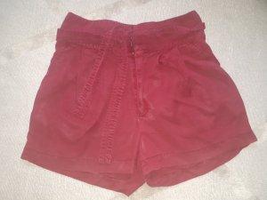 rote Shorts high waist 36