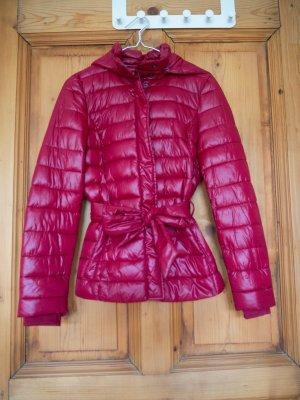 Rote Sisley Übergangsjacke Größe 34