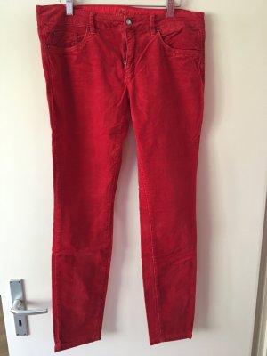 Rote Skinny Cordhose  von Esprit