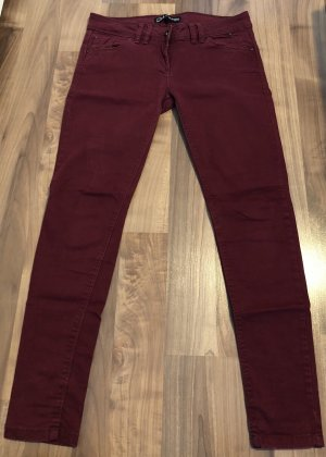 Rote Skinny Jeans