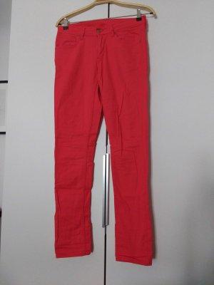 Rote skinny Jeans stretch