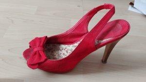 Rote Slingback High Heels