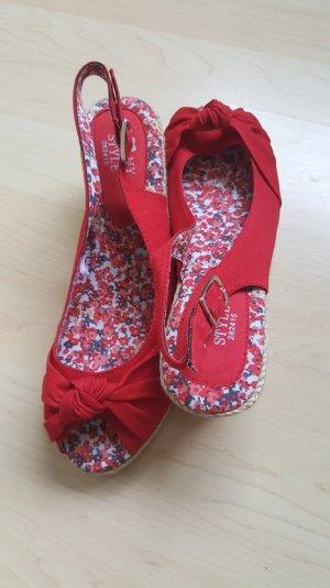 Rote Slingwedges Tchibo