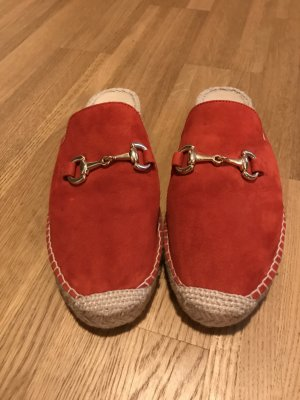 Navyboot Mules red