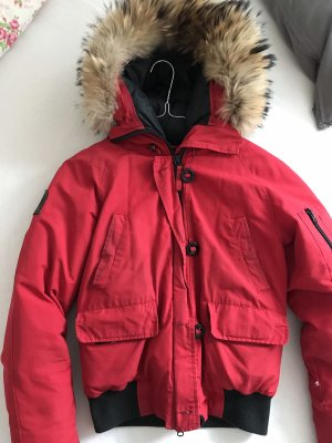 Rote Snowmass Bomber Winterjacke Gr. XS