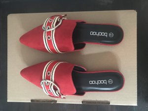 Boohoo Mules red