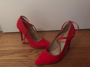 Another A Pointed Toe Pumps red