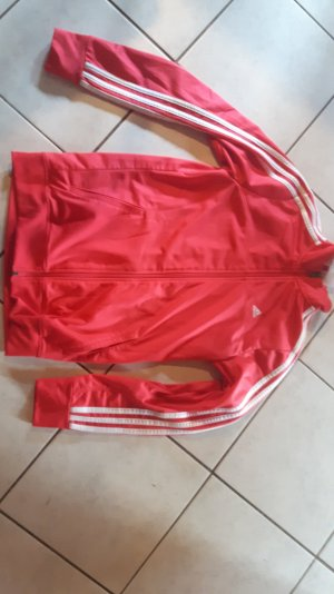 Rote Sportjacke adidas