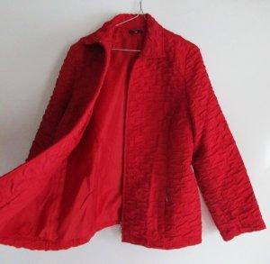Rote Steppjacke Tru Größe 44 XL Leichte Übergangsjacke Rot Kirschrot Jacke Blouson Steppstoff