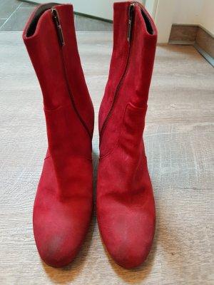 rote Stiefeletten , italienische Schuhe 37,5