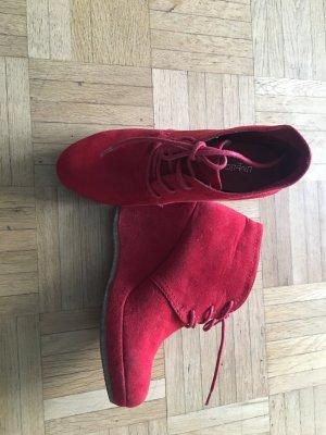 Rote stiefeletten mit Keilabsatz von limelight, 37
