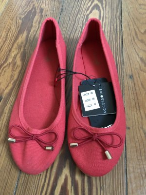 Accessorize Mary Jane Ballerinas neon red-raspberry-red